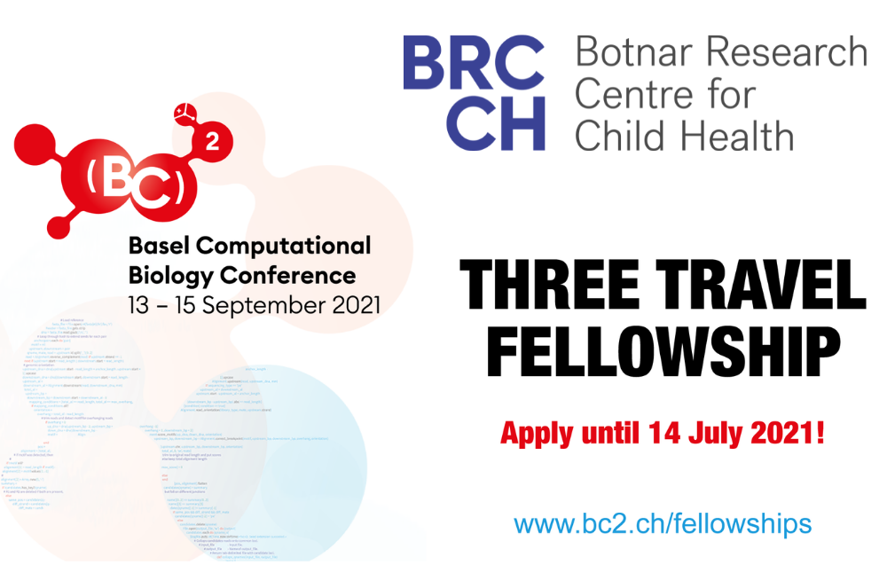 BRCCH Supports Travel Fellowships for Computational Biology Conference